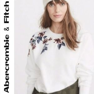 Abercrombie & Fitch Embroidered Floral Sweatshirt